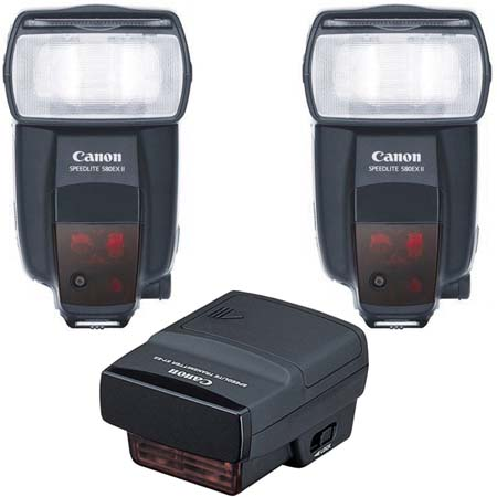Kit wireless Canon: Trasmettitore STE-2 e Speedlite 580EX II